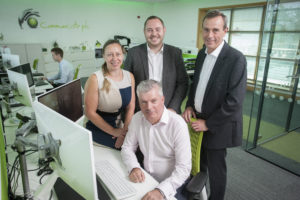 2014 08 25 Pic to acompany Growth PR L-R rear Emily Bentley, Oliver Stell, John Toal, front - Tony Snaith